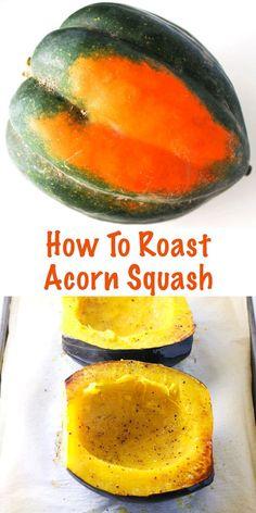 How To Roast Acorn Squash, so easy! Gluten Free, Vegan, and Paleo. | Tastefulventure.com