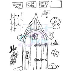Image Result For Fairy Door Template DrAwing