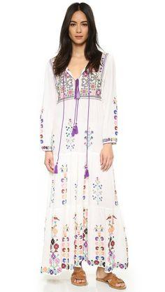 BLUE Raffaela Embroidered Dress