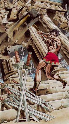 Ten of Swords  - Initiatory Tarot of the Golden Dawn by Giordano Berti, Patrizio Evangelisti