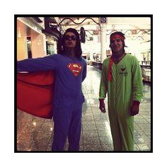 Ronnie Radke as Superman and Jacky Vincent as Michelangelo. Enough said.