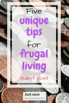 Here are 5 Unique Tips for Frugal Living from The Crazy Shopping Cart!  I need to start doing some of these so I can have a more thrifty lifestyle.