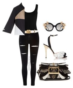 """""""Untitled #362"""" by sherristylz on Polyvore featuring Twenty, River Island, Gucci, Alice + Olivia, Burberry and Rochas"""