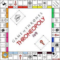 El Tronopoly, el monopoli de Juego de Tronos. Frikada al canto!