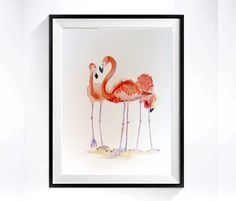 Hey, I found this really awesome Etsy listing at https://www.etsy.com/listing/227852733/10-flamingo-birds-art-print-zoo-animal