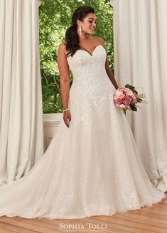 How To Dress For A Wedding, Wedding Dresses Plus Size, Plus Size Wedding, Designer Wedding Dresses, Sophia Tolli Wedding Gowns, Bridal Dresses, Pakistani Wedding Dresses, Mon Cheri Bridal, Curvy Bride