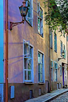 #Tallinn #street #wallpaper #poster #photography #idyllic #photo about life #matkusta #kaupunki #valokuva Poster Photography, Street View, Studio, Wallpaper, Life, Color, Wallpapers, Colour, Studios