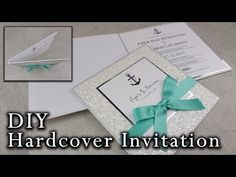 D.I.Y Gold foil belly band Wedding Invitations | How to make your own wedding invitation - YouTube