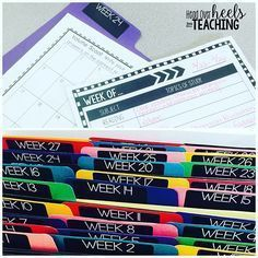 "Want a head start on next year's planning? Why reinvent the wheel? I created file folders for each week and run an extra copy of any resource I use to reference next year on that week. I also jot down notes on a planning template to make planning easier too. Lesson plan template and file labels included in my ""Teacher's File Cabinet."" Link in profile. #getahead #worksmarternotharder #organization"