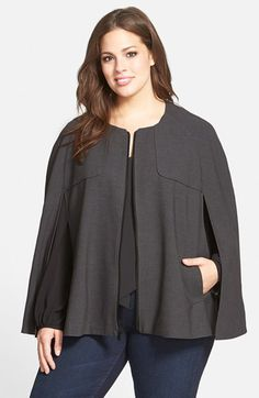 Halogen® Halogen® Twill Cape (Plus Size) available at #Nordstrom