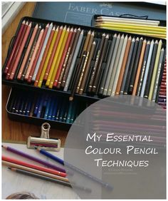 Today i'll be sharing a quick guide to essential colour pencil techniques which i hope will answer some of your questions. Obviously this isnt an exhaustive list and the wonderful thing about art is t