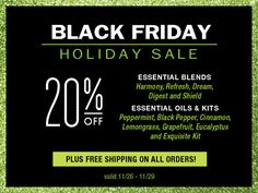 """Spark Naturals Black Friday Sale is Here!  20% off select #essentialoils & kits, PLUS an extra 10% off EVERYTHING with coupon code """"thenomadlife"""", PLUS #FREESHIPPING until Sunday!"""