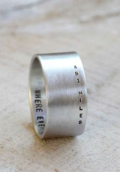 The Engraved Distance Ring