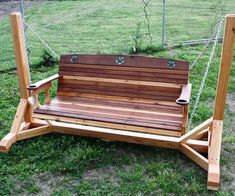 Porch swing frame plans swings with bench how to build a structure cup wood . porch swing frame plans swings with wood Balcony Swing, Porch Swing Frame, Pergola Swing, Backyard Swings, Diy Porch, Diy Deck, Porch Swings For Sale, Painting Wooden Furniture, Swing Design