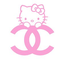 Chanel and Hello Kitty.  Love it :-)