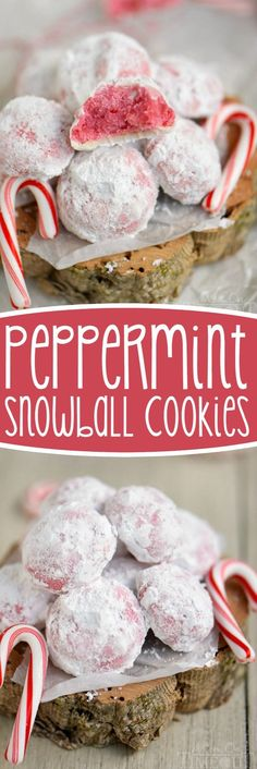 These Peppermint Snowball Cookies are everything a Christmas cookie should be…