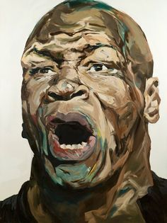 Mike Tyson, oil on canvas, by David T. Cho.