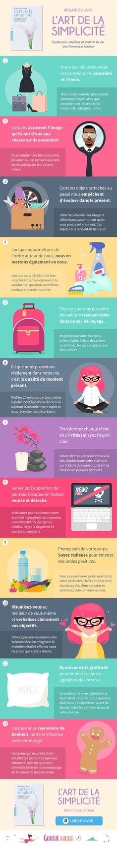 the art of simplicity of dominique Loreau – summary of the illustrated book go … Jane Eyre, Positive Mind, Positive Attitude, Good To Know, Feel Good, Miracle Morning, Daily Meditation, Anti Stress, Good Mood
