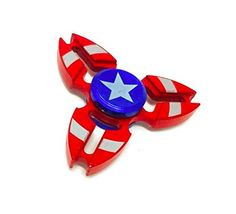 SUPERHEROES CAPTAIN AMERICA! Fidget Toys,spinner fidget toys The Anti-Anxiety 360 Spinner Helps Focusing Toys [3D Figit] Premium Quality EDC Focus Toy for Kids & Adults - Stress Reducer  Choose your favorite SUPERHERO (or SUPERVILLAIN)!! CAPTAIN AMERICA!! Spin and Enjoy!! SPIN AGAINST OTHER SUPERHEROES LIKE THE AMAZING SPIDERMAN, THE DARK SPIDERMAN AND SUPERMAN. SPIN TILL THE END AND HAVE FUN!!  Order Now for a chance to win A FREE SECOND SUPERHERO!! Offer Valid Till The End Of The Mon...