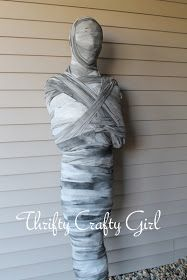 Thrifty Crafty Girl: 31 Days of Halloween - The Duct Tape Mummy