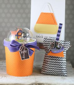 Halloween Gift Packaging by Laurie Willison for Papertrey Ink (August 2015)