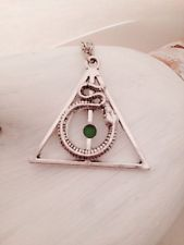 Harry Potter Deathly Hallows Slytherin Serpiente Collar