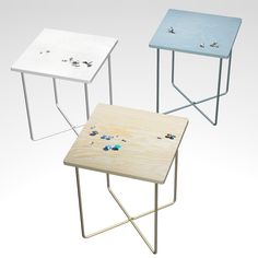 "The first thing I thought of when I saw this trio of tables was of that one terrible Dixie Chicks song, ""Wide Open Spaces."" But that pretty much nails it when it comes to this series, titled ""TOP Tables,"" from Olze & Wilkens. The Berlin & Freiburg-based duo deftly translates..."