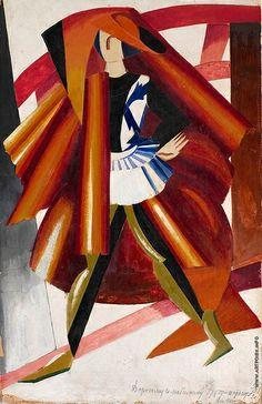 Alexandra Exter (Russian, 1884 - 1949) Costume design for Romeo, 1920 via thirdorgan
