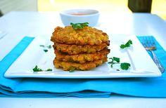 Baked sweetcorn fritters