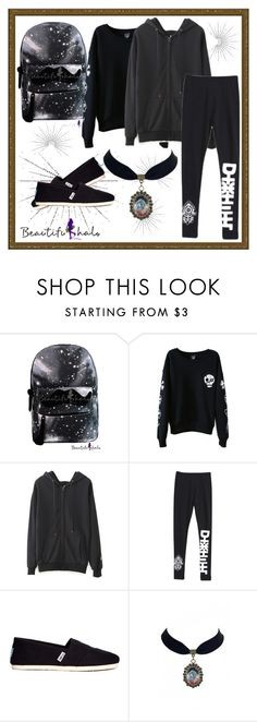 """""""Beautifulhalo/44"""" by amira-1-1 ❤ liked on Polyvore featuring TOMS and beautifulhalo"""