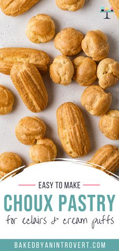 This easy recipe will teach you how to make perfect Choux Pastry (Pâte à Choux)! This is the only recipe you will ever need to make choux pastry that comes out perfect every time. Use this fool proof choux pastry to make cream puffs, profiteroles, eclairs, gougères, beignets and more....