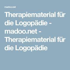 Therapiematerial für die Logopädie - madoo.net - Therapiematerial für die Logopädie
