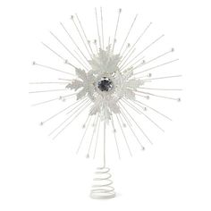 Snowflake Starburst tree topper::i think i could make something very similar..