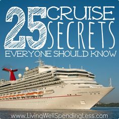These 25 cruise secrets can help you find the best deals, discover little-known tips & tricks, and help you make the most of your next cruise vacation.. disney cruise, crusing with disney #disney #cruise #cruising