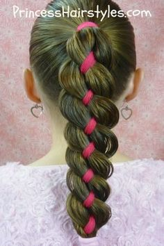 ribbon braid Such a cute Hairstyle! I have got to try that!