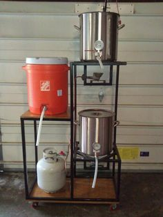 Show us your sculpture or brew rig – Page 252 – Home Brew Forums – Brewing Equipment Beer Brewing Kits, Brewing Recipes, Homebrew Recipes, Beer Recipes, Beer Kits, Coffee Recipes, Brew Stand, All Grain Brewing, Craft Bier