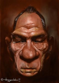 patrick strogulski caricature of tommy lee jones