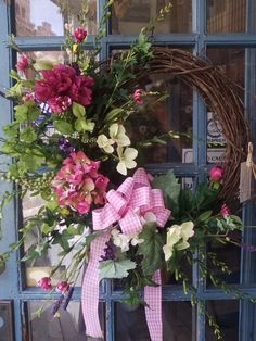 Pink peonies and hydrangea. Wreath Crafts, Diy Wreath, Grapevine Wreath, Easter Wreaths, Holiday Wreaths, Outdoor Wreaths, Summer Wreath, Spring Wreaths, Noel Christmas