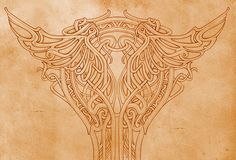Art nouveau - pillar ornament by MermaliorX.deviantart.com on @deviantART