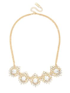 Vintage glam is the motif this crystal statement necklace ricks thanks to some serious crystal-work and a gorgeous deco design.