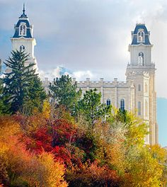 Manti UT temple in fall splendor. I have always dreamed of going to the Manti Temple.