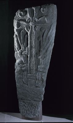 Norse stone cross slab with representations of the sun and the moon, from Doid Mhairi, Islay, c. Space Gallery, Earth From Space, 11th Century, Stonehenge, Stone Carving, National Museum, Stargazing, Constellations, Archaeology