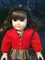 """Free Pattern - Knit Cotton Cardigan for 18"""" Doll"""