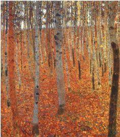 La forêt de Birch, Gustav Klimt