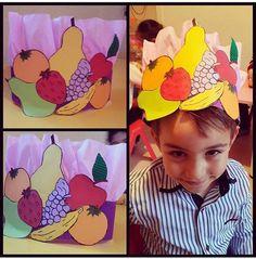 Yerli malı haftasına özel etkinlikler Fruit Crafts, Food Crafts, Toddler Crafts, Crafts For Kids, Arts And Crafts, Nutrition Month Costume, Fruit Costumes, Paper Art, Paper Crafts