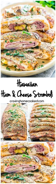 This Hawaiian Ham and Cheese Stromboli is quick and simple to put together, uses refrigerated pizza crust and ready in no time. Delicious, cheesy, loaded with flavors the whole family will love. #stromboli