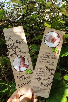 Annoncez la bonne nouvelle avec ce faire-part de naissance format marque-page ! Ce modèle fera craquer tous les amoureux de la nature, grâce à son esprit écolo avec les motifs de branches d'arbres, de petits oiseaux et de feuilles vertes. Pensez à ajouter une petite carte de remerciement format rond ou carré, pour un petit côté sympathique ! Retrouvez ce modèle sur http://www.pastillesetpetitspois.fr/creations-naissance.html