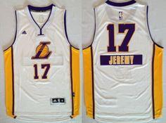 Los Angeles Lakers #17 Jeremy Lin Revolution 30 Swingman 2014 Christmas Day White Jersey