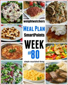Weight Watchers Weekly Meal Plan #80