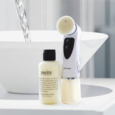 it only takes one minute and one touch to achieve deeply cleansed and glowing skin with the purity made simple one-touch facialist, now available at macy's!